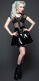 Detail image to LIP SERVICE Vinyl Pleated Skirt