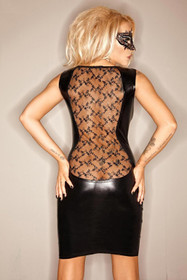 Detailbild zu NOIR HANDMADE Lace Back Wetlook Dress