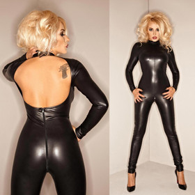 Detail image to NOIR HANDMADE Watch Your Back Catsuit