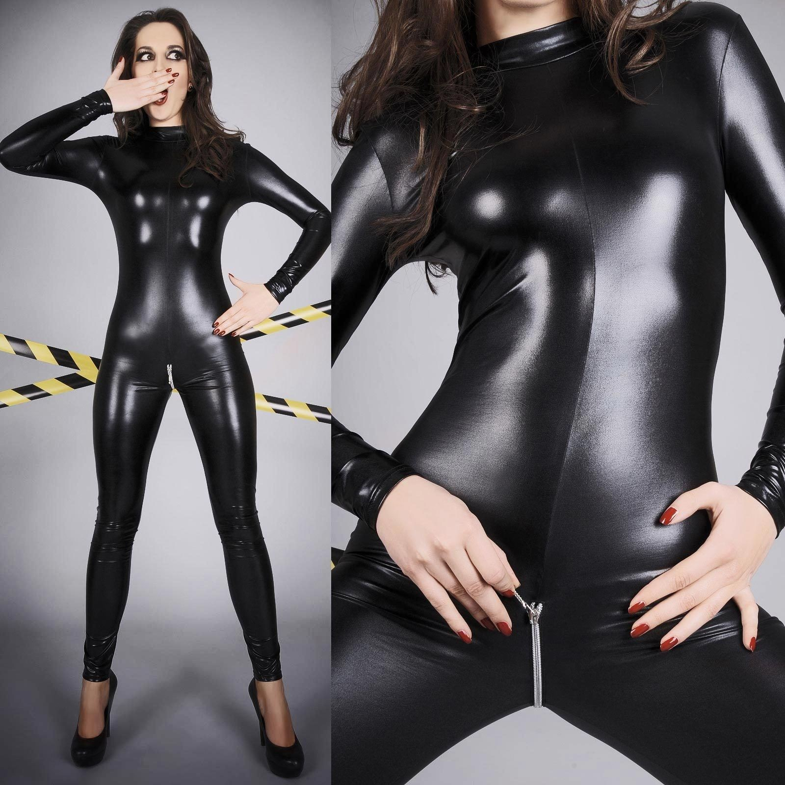 Shop lycra, metallic and mesh catsuits. Zip up front. Great full bodysuit fit.