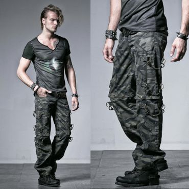 PUNK RAVE Convertible Camo Pants