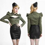 PUNK RAVE High Waisted Leather Skirt 001