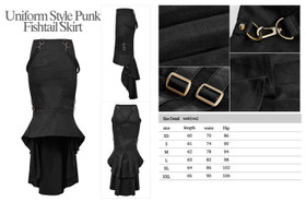 Detailbild zu PUNK RAVE Uniform Fishtail Rock Schwarz