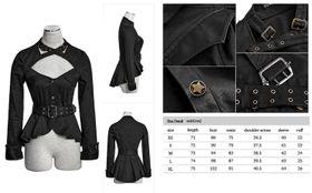 Detailbild zu PUNK RAVE Uniform Jacke Schwarz