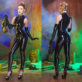 Detail image to PATRICE CATANZARO Angelica PVC Catsuit