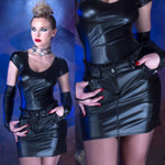 PATRICE CATANZARO Maureen Wetlook Mini Skirt 001