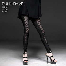 Detailbild zu PUNK RAVE Crossing Lace Leggings