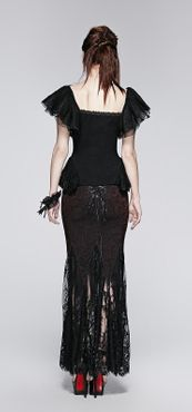 Detailbild zu PUNK RAVE Butterfly Sleeve Gothic Top