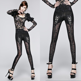 PUNK RAVE Gothic Rose Leggings