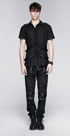 Detailbild zu PUNK RAVE Strap Shirt Gothic Hemd
