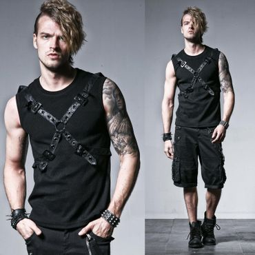 PUNK RAVE Bond Cross Tank Top