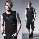 PUNK RAVE Bond Cross Tank Top 001