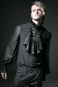 Detail image to PUNK RAVE Count Dignity Gothic Shirt Black