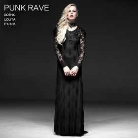 Detailbild zu PUNK RAVE Morticia's Evening Dress