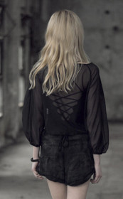 Detailbild zu PUNK RAVE Pashionnette Organza Blouse Top Black