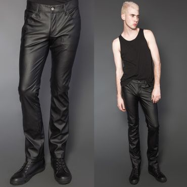 LIP SERVICE 24HRS Comfort Fit Leatherette Jeans
