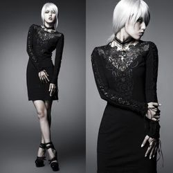 PUNK RAVE Charming Sorrow Dress Gothic Kleid 001
