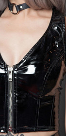 Detail image to LIP SERVICE Neckholder PVC Top Black
