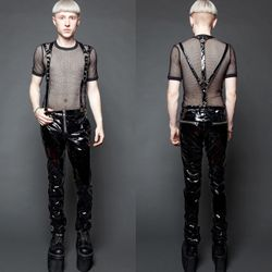 LIP SERVICE Suspender Pants Black 001
