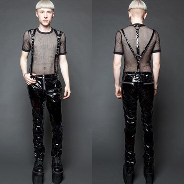 LIP SERVICE Suspender Pants Black
