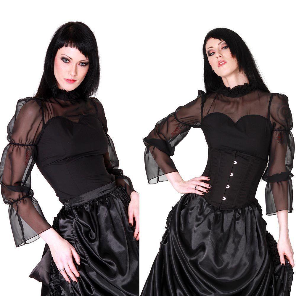 Andersartig elegant gothic chiffon bluse for Oberteile damen elegant