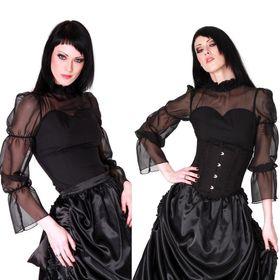 ANDERSARTIG Elegant Gothic Chiffon Bluse