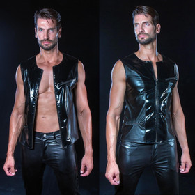 PATRICE CATANZARO Mike Wetlook PVC Vest