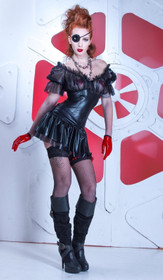 Detailbild zu PATRICE CATANZARO Anita Robe Wetlook Mini-Kleid