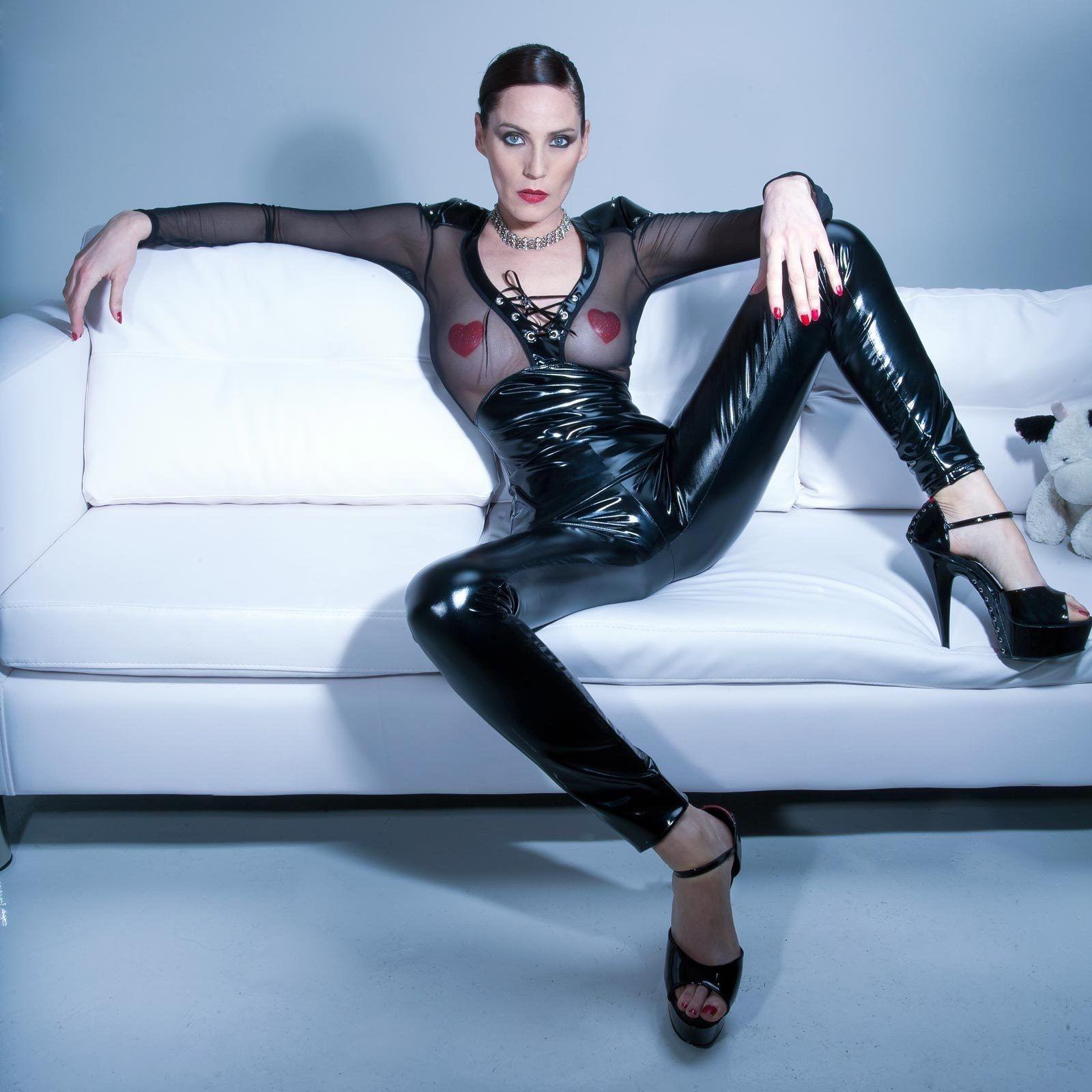 PATRICE CATANZARO Vera Vinyl Leggings Black