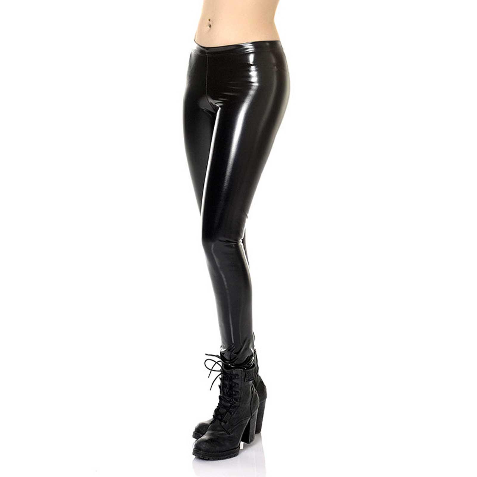 651d44c2ad434 ... Detail image to PATRICE CATANZARO Vera Vinyl Leggings Black ...
