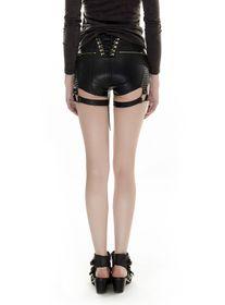 Detailbild zu PUNK RAVE Steampunk Leder-Shorts