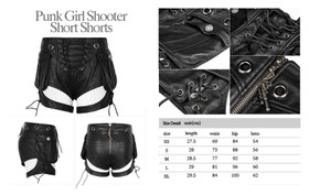 Detail image to PUNK RAVE Riot Girl Shooter Shorts
