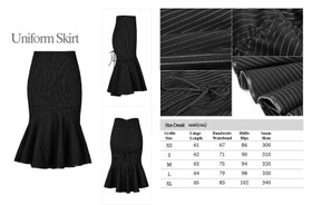 Detail image to PUNK RAVE Uniform Pinstripe Skirt