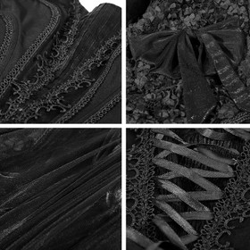 Detail image to PUNK RAVE Victorian Mourning Dress