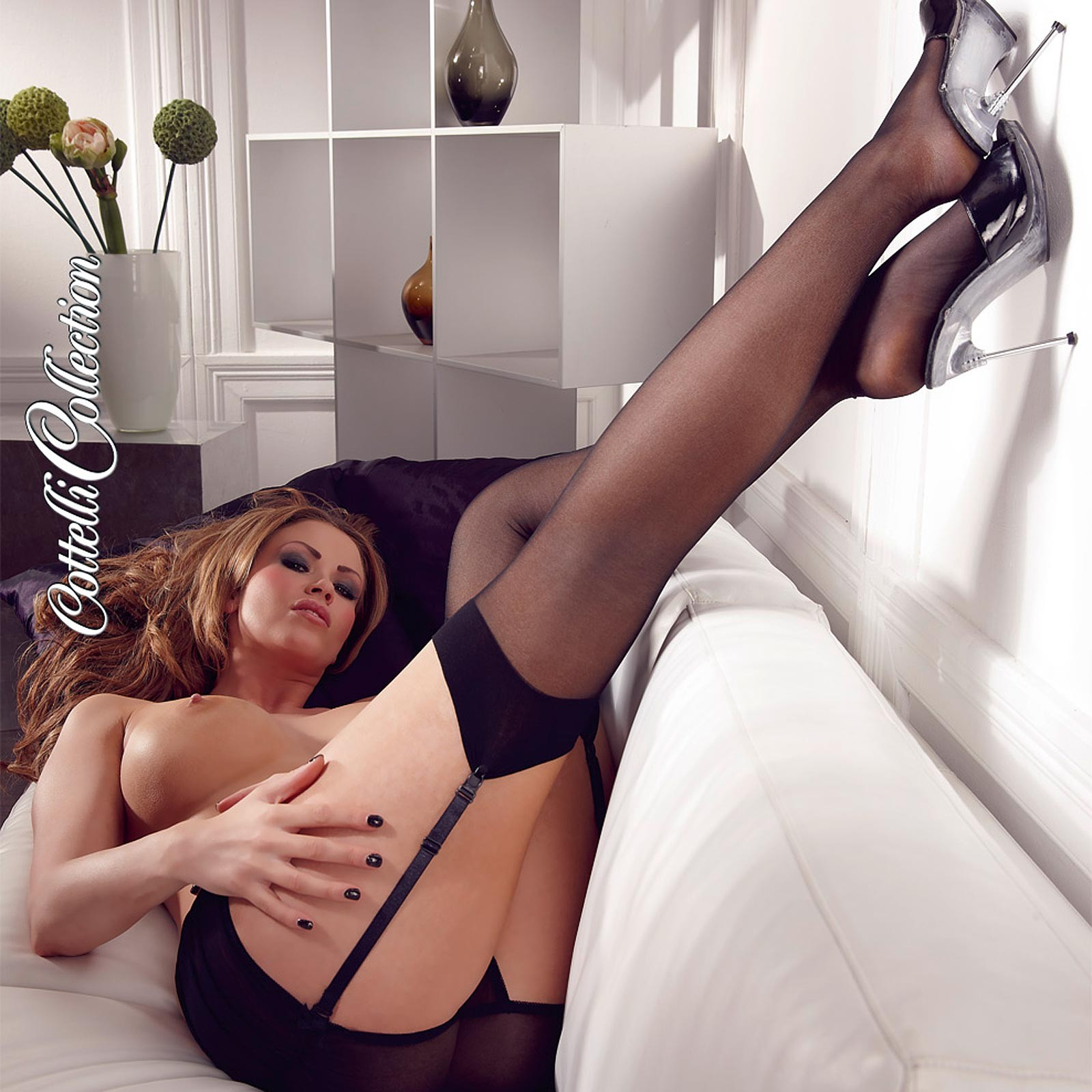 COTTELLI COLLECTION Suspender Stockings