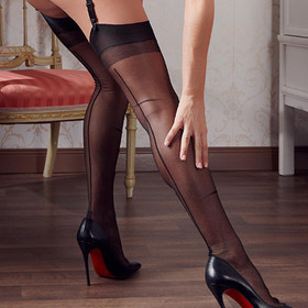 COTTELLI COLLECTION Nylons Vintage Look Black