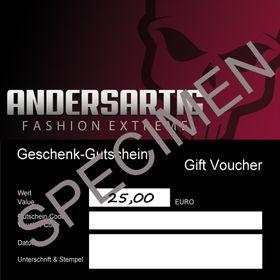 ANDERSARTIG Geschenk-Gutschein 25 EUR