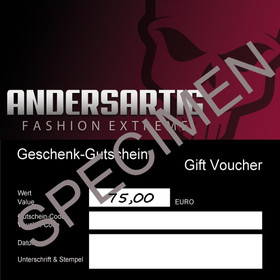 ANDERSARTIG Geschenk-Gutschein 75 EUR