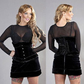 Detail image to BURLESKA Scarlet Mesh Top Black