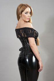 Detail image to BURLESKA Gypsy Lace Top Black