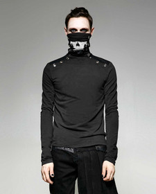 Detailbild zu PUNK RAVE Turtleneck Skull Top