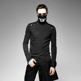 PUNK RAVE Turtleneck Skull Top