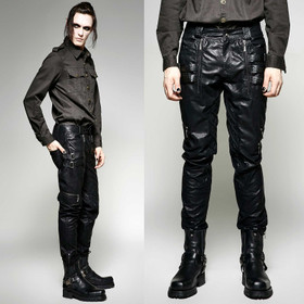 PUNK RAVE Black Worker Pants
