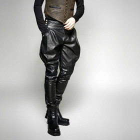 Detail image to PUNK RAVE Leather Breeches
