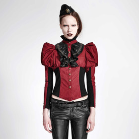 PUNK RAVE Steampunk Shirt Red