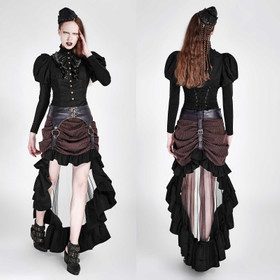PUNK RAVE Steampunk Veil Skirt