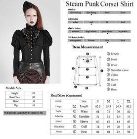 Detail image to PUNK RAVE Steampunk Shirt Black