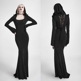 PUNK RAVE Hooded Goth Dress