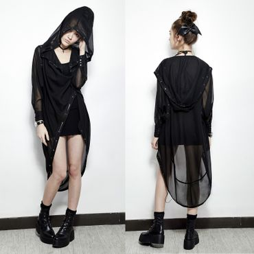 PUNK RAVE Chiffon Long Coat