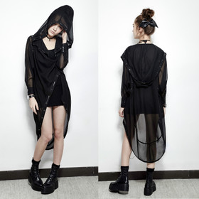 Detail image to PUNK RAVE Chiffon Long Coat